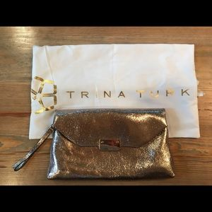 Rose Gold Trina Turk Clutch/Envelope Handbag